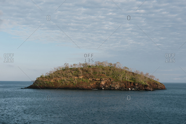 A small uninhabited island off the coast of Isabela in Galapagos