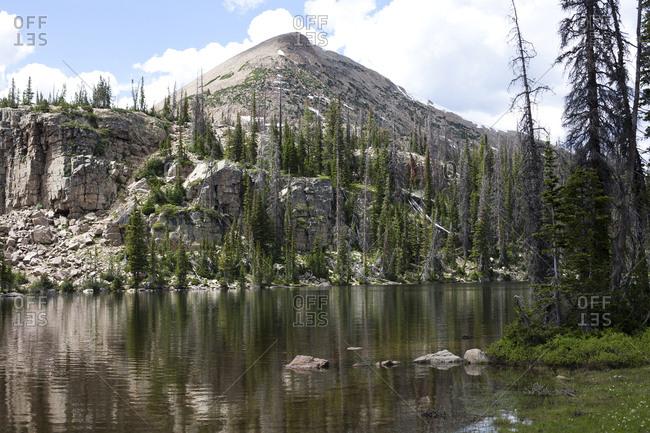 Alpine lake in the Uinta Mountains, Utah, USA
