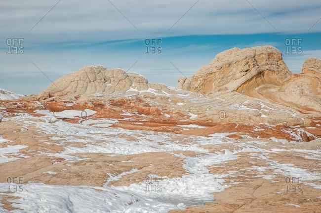 White Pocket, Vermilion Cliffs winter landscape with snow