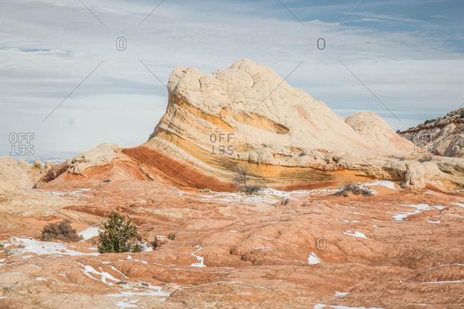 White Pocket winter scene in Vermilion Cliffs, Northern Arizona