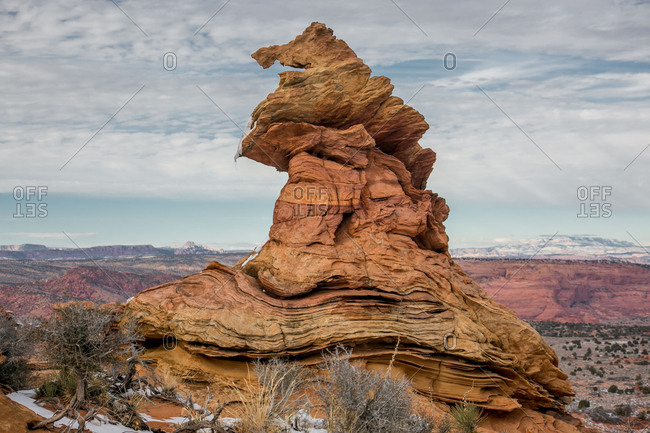 """Sorting Hat"" aka ""Witches Hat"" in Cottonwood Cove, Coyote Buttes"