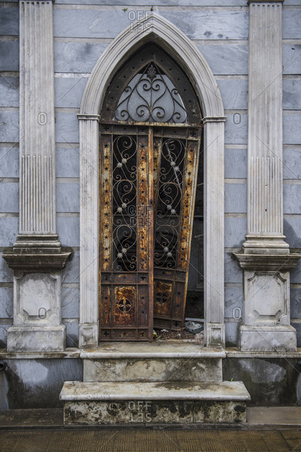 Buenos Aires, Argentina - April 3, 2017: tomb at the La Recoleta cemetery in Buenos Aires