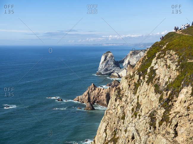 Portugal- Lisbon District- Sintra- Cliffs of Cabo da Roca in summer