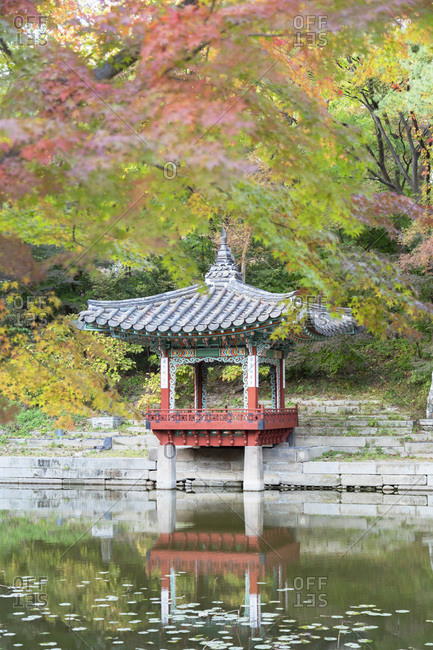 October 29, 2019: Secret Garden in Changdeokgung Palace, UNESCO World Heritage Site, Seoul, South Korea, Asia