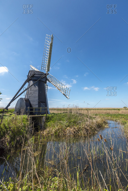 Herring fleet Mill (Walker's Mill), Drainage mill of the smock mill style, Herring fleet, Suffolk, England, United Kingdom, Europe