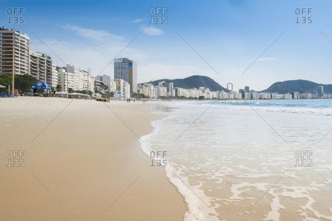 July 7, 2016: Copacabana Beach, Rio de Janeiro, Brazil, South America