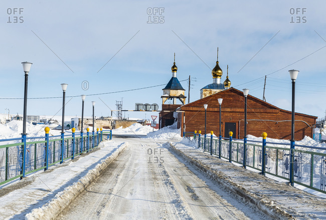 March 13, 2020: Anadyr, easternmost city in Russia, Chukotka autonomous Okrug, Russia, Eurasia