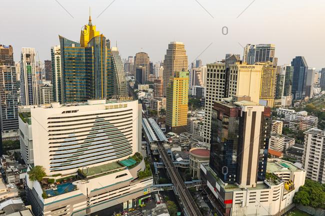 March 1, 2020: Skyline of Bangkok, Thailand, Southeast Asia, Asia