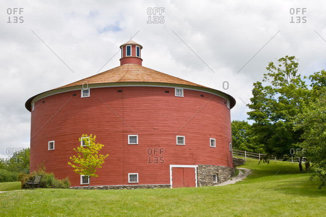 1901 Round Barn, Shelburne Museum, Shelburne, Vermont, New England, United States of America, North America