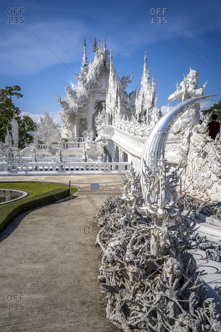 January 2, 2020: Detail of hands, Wat Rong Khun (White Temple), Chiang Rai, Northern Thailand, Thailand, Southeast Asia, Asia