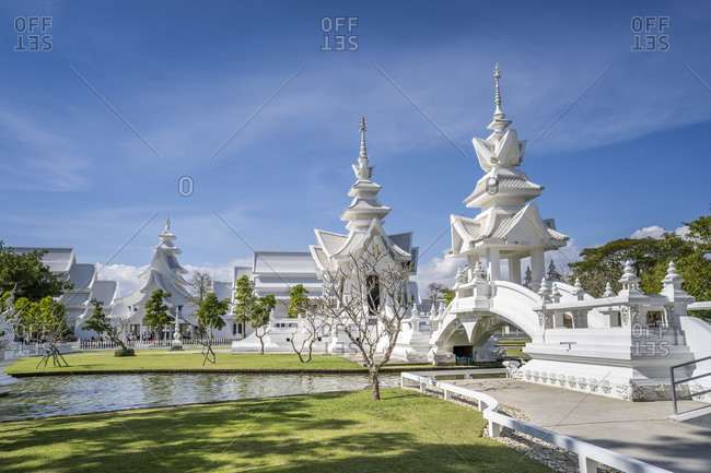 January 2, 2020: Wat Rong Khun (White Temple), Chiang Rai, Northern Thailand, Thailand, Southeast Asia, Asia