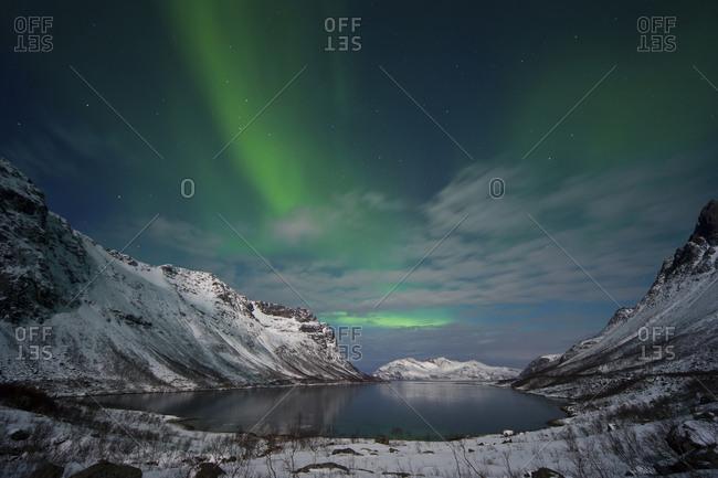 Norway- Province Troms- View of Aurora Borealis