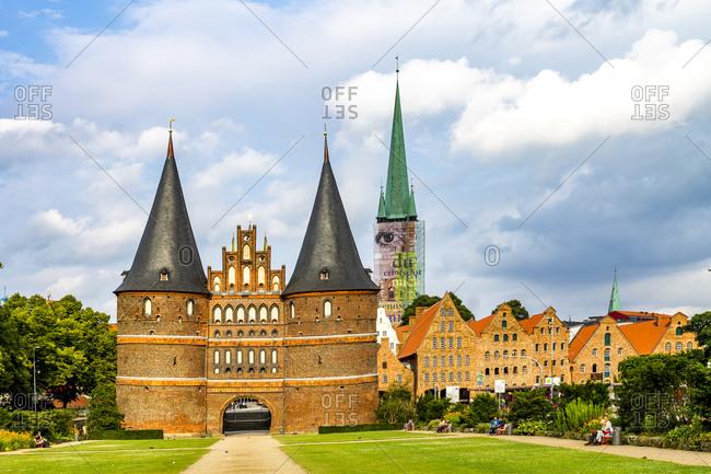 Germany- Schleswig-Holstein- Luebeck- Old town- Holsten Gate