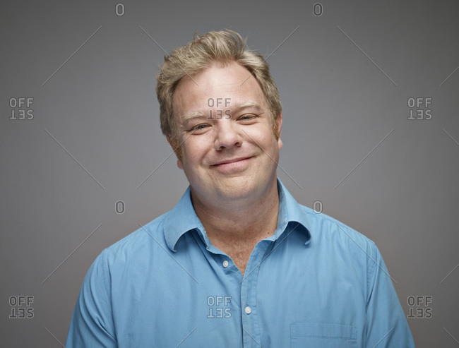 Portrait of happy man - Offset