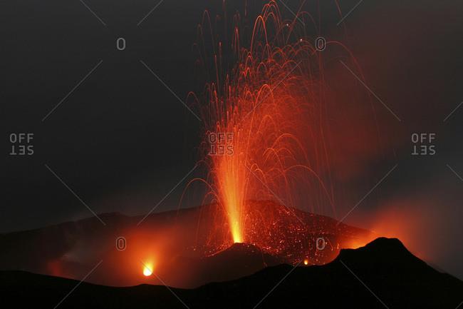Italy- Stromboli volcano- eruptions - Offset