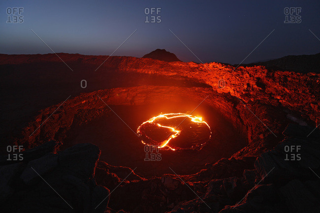 Ethiopia- Danakil- Lava flow from Erta Ale volcano