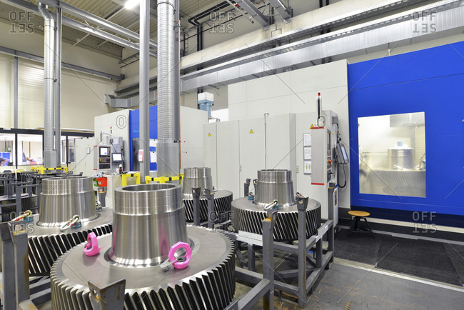 Germany- Production of wind tubines- gear components in production plant