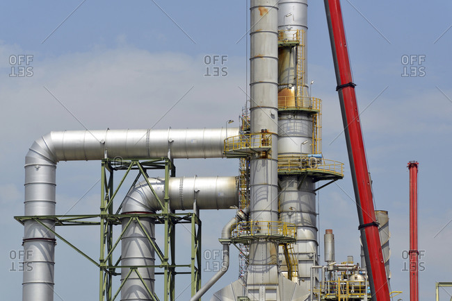 Germany- Saxony-Anhalt- pipes in an oil refinery