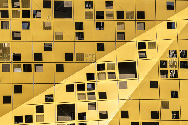 Full frame shot of Forum Gold And Silver House- Baden-Württemberg- Germany