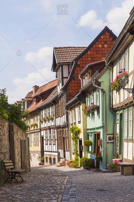 Germany- Saxony-Anhalt- Quedlinburg- Timber-framed houses