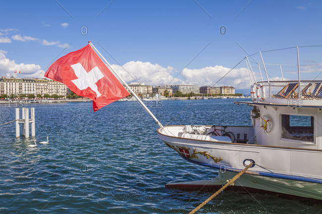 Switzerland- Geneva- Lake Geneva- paddlesteamer Savoie