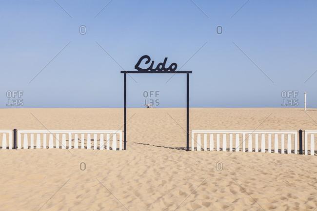 Belgium- Flanders- Ostende- North sea seaside resort- Doorway to beach- Lido