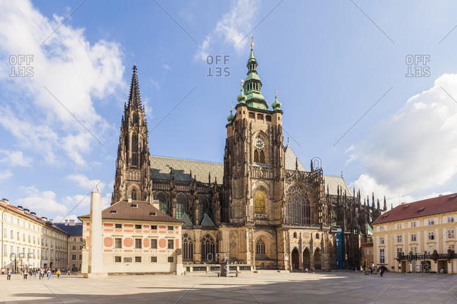 Czech Republic- Prague- Hradcany- Castle- third courtyard and St Vitus Cathedral