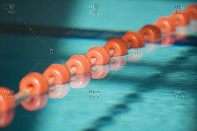 Separation line for swimming line- close-up