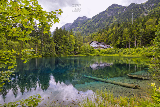 Germany- Allgaeu- Lake Christlessee