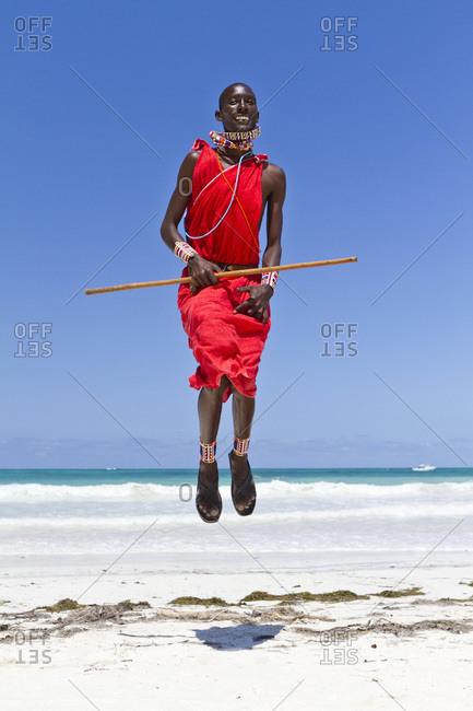 Africa- Kenya- Coast Province- District Kwale- Diani Beach- leaping dance of the Massai