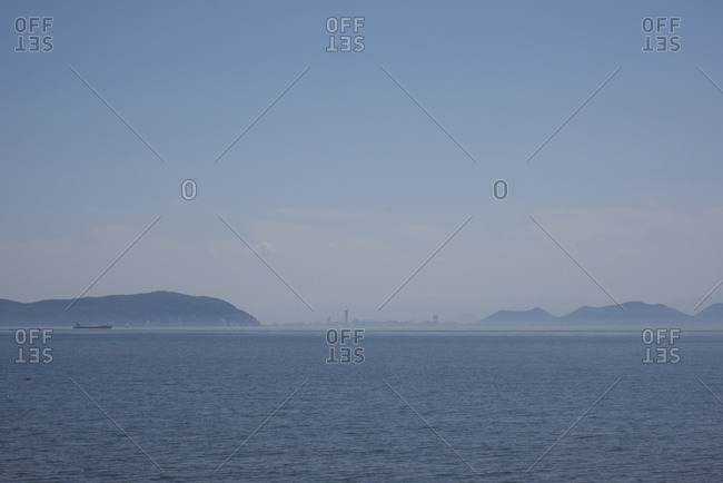 View of the Seto Inland Sea and Naoshima Island in Japan