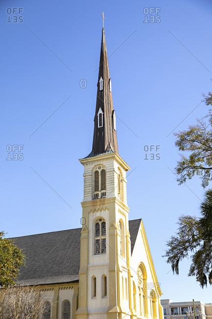 Citadel Square Baptist Church steeple in Charleston, South Carolina