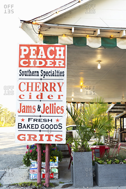 "Charleston, South Carolina - March 6, 2019: Sign outside of a restaurant reading ""Southern Specialties"""