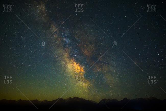 Dark night sky with stars