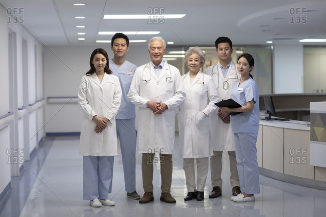 Portrait of Chinese medical team