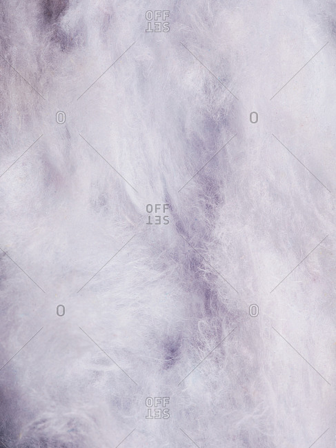 Soft violet grape flavored cotton candy background