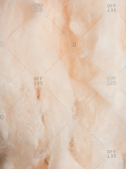 Macro view of soft orange cotton candy background