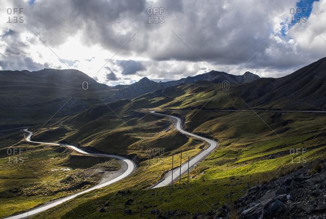 Mountain road in Peru, Aquia, Ancash, Peru, South America