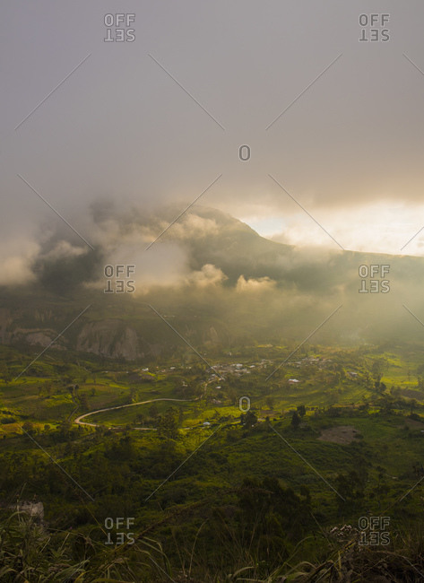 Mystic light over the valley, Ambato, Tungurahua, Ecuador