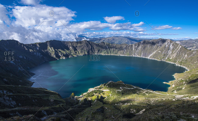 Quilotoa is a water-filled caldera on 4.200m altitude in Ecuador