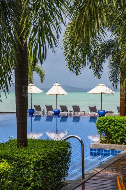 Infinity pool at resort, Rawai, Phuket, Thailand