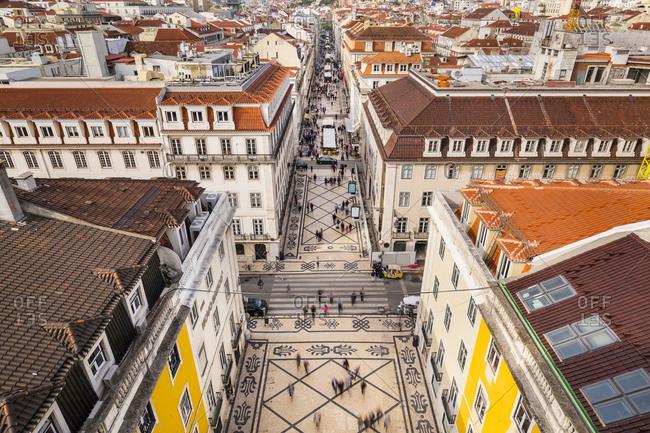 June 6, 2019: Rua Augusta square, Lisbon, Portugal
