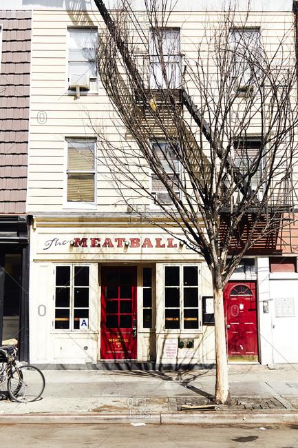Brooklyn, New York - August 15, 2016: The Meatball Shop In Williamsburg, Brooklyn