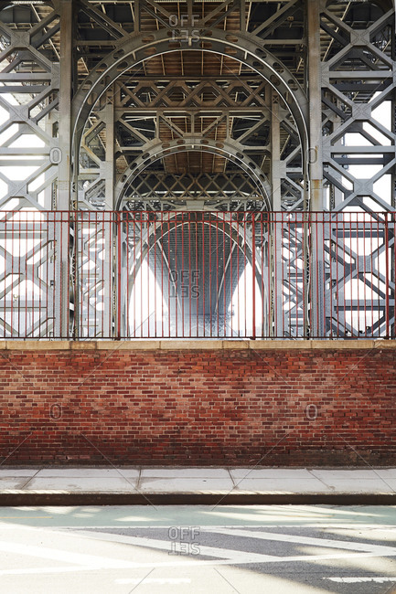 Williamsburg Bridge structure from below