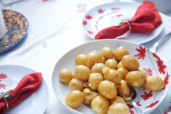 Prepared potatos on a plate