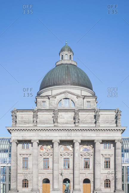 Germany- Bavaria- Munich- Facade ofBavarian State Chancellery