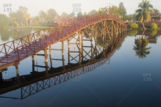 Laguna del Tesoro, Treasure Lagoon, footbridge, Zapata Peninsula, Cuba, Central America