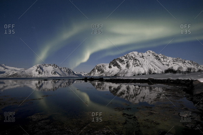 Northern Lights (Aurora borealis), Lofoten, Nordland, Norway, Europe
