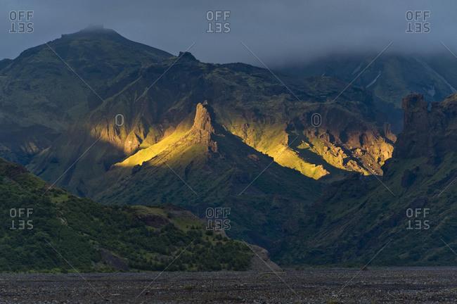 Porsmoerk or Thorsmoerk mountain ridge, Icelandic highlands, Southern Iceland, Iceland, Europe