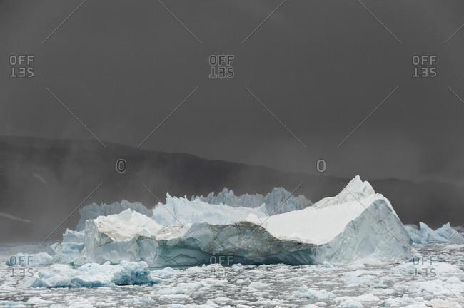 Icebergs, Johan Petersen Fjord, East Greenland, Greenland, North America